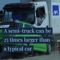 Truck accident visual asset